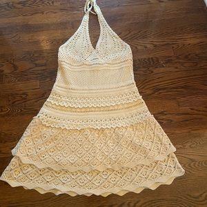 Moda Crotchet'd Halter Dress